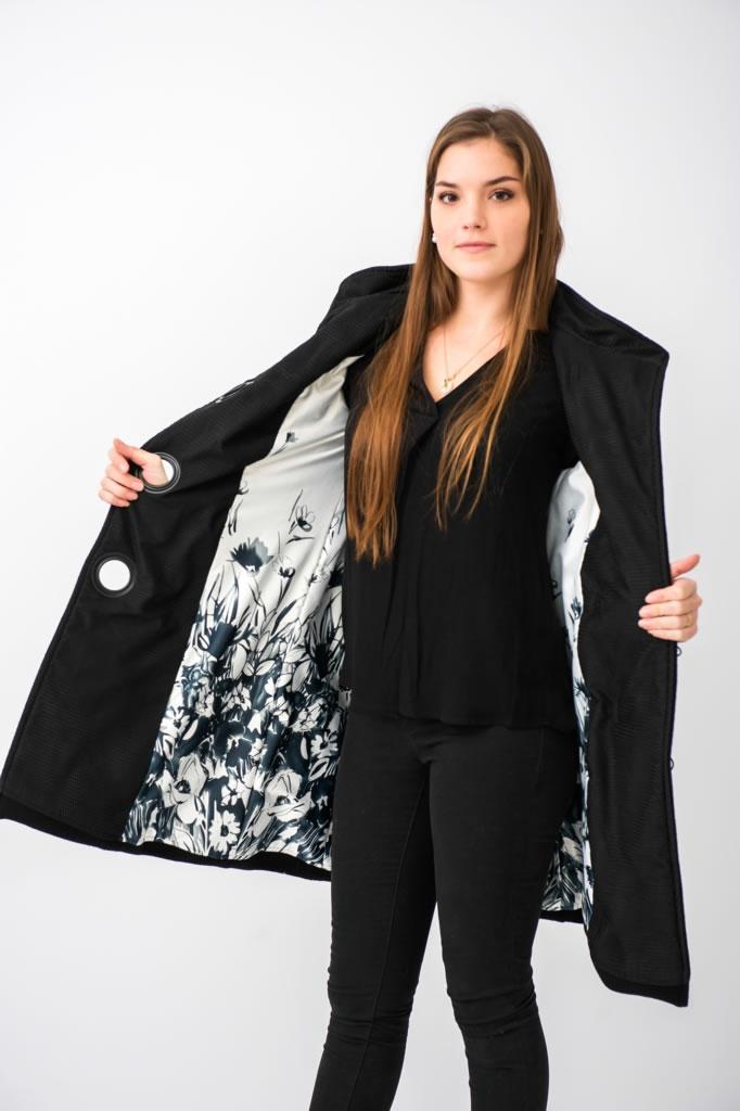 Manteau en épais crêpe de laine 4