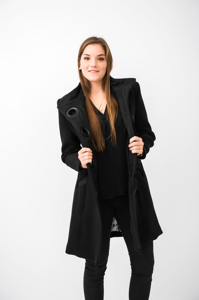 Manteau en épais crêpe de laine 3