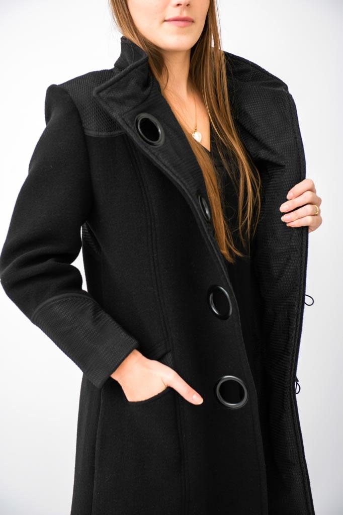 Manteau en épais crêpe de laine 2