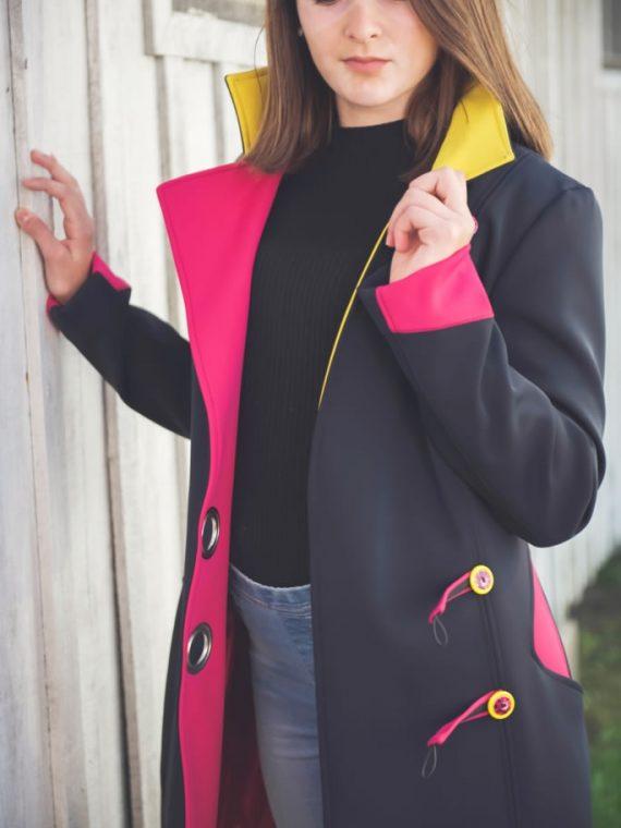 manteau néoprène noir coloré 4