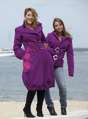 Manteau en velours de laine double coton