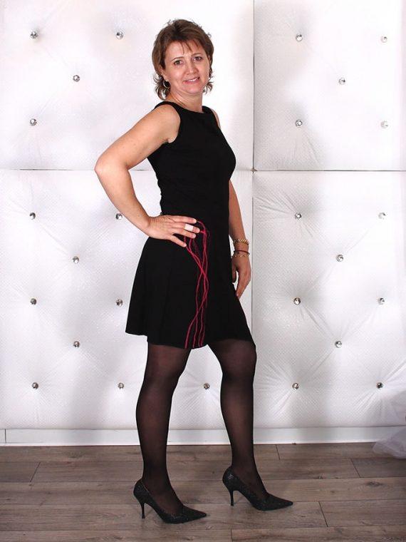 image de Robe cintrée jersey - Noir/Rose