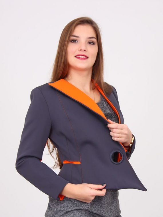 veste néoprène bi-couleurs grisorange