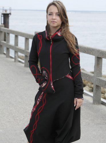 Robe sarouel en jersey
