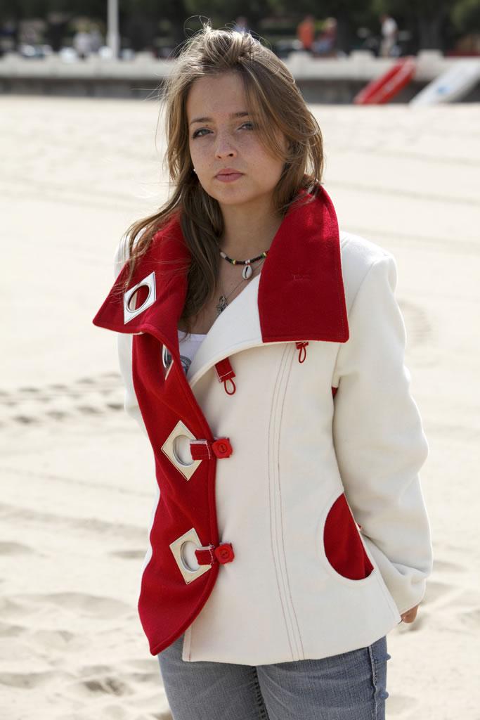 Veste en velours de laine bi couleurs oticr ation - Velours de laine ameublement ...