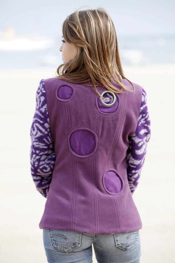 Veste en velours de laine et laine bouillie oti cr ation - Velours de laine ameublement ...