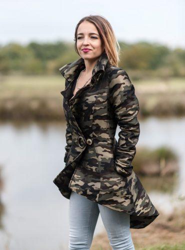 Veste camouflage satinée