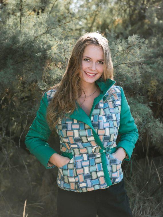 veste en toile sergée verte